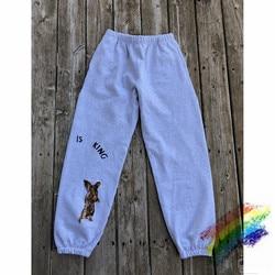 Новинка; спортивные штаны Kanye West с изображением Иисуса короля; 1:1 уличная одежда Kanye West; 2020SS; джоггеры с изображением Иисуса короля; брюки