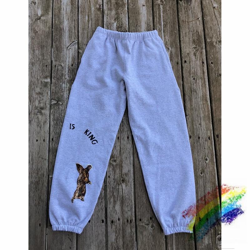 New Kanye West Jesus Is King Sweatpants Kanye West 1:1 Streetwear 2020SS Joggers Jesus Is King Trousers Pants