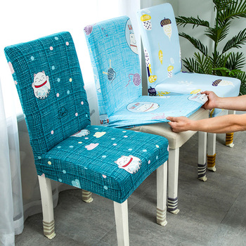 Floral Printing stretchable Stretch Elastic Chair Covers Spandex For Wedding Dining Room Office Banquet chair cover 1