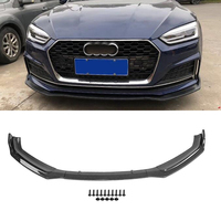 Car Front Bumper Carbon Fiber For Audi A5 B9 2017 2018 Auto Exterior Parts Replacement Front Bumper Lip Cover Trim