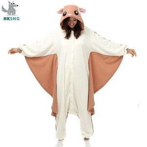 Image 1 - HKSNG Animal adulto Kigurumi Flying Squirrel Onesies fiesta Halloween pijama de ratón Cosplay Chipmuck disfraces ropa de dormir mono