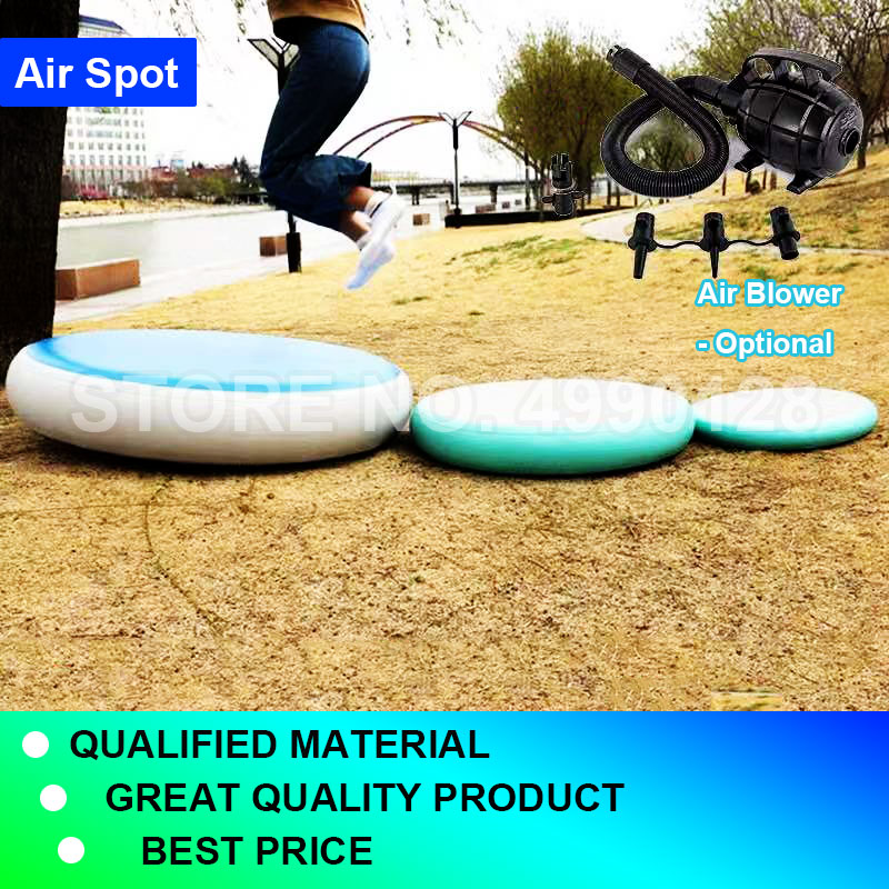 Free Shipping Inflatable Airspot Gymnastics Airtrack Air Track Air Spot Tumbling Mat Round Mat For Gym, Tumbling And Training