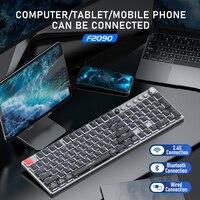 Tastiera meccanica Wireless AULA F2090 104 tasti Ultra sottili supporto Bluetooth/tipo-c per PC Desktop Android Windows