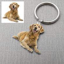 Keyring Picture Custom Keychain Pet-Memorial-Gift Pet-Lover Photo