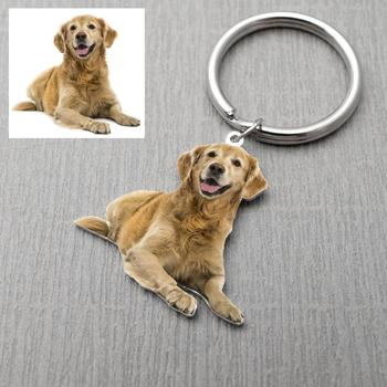 Custom Keychain Picture Keyring Dog Photo Keychain Pet Memorial Gift For Pet Lover Christmas Gift custom cat keychain custom dog keychain personalized keyring animal photo keychain pet lovers gift