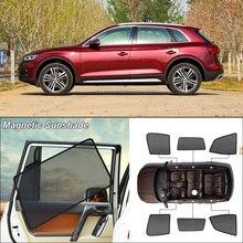 Car Side Windows Magnetic Sun Shade UV Protection Ray Blocking Mesh Visor For Audi Q5l 2018