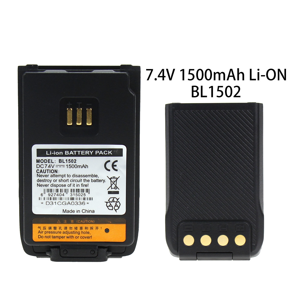 Two Way Radio 2000mAh Li-ion Battery For Hytera BL2010 BL1504 UL913 PD562 PD502 PD682G