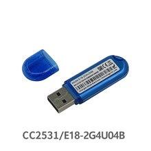 Zigbee cc2531 antena 2.4 usb E18-2G4U04B zigbee, usb, transmissor rf e receptor pcb, 8051mcu band, indicador de led