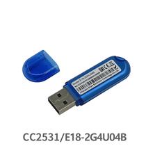 Zigbee CC2531 2 4Ghz USB E18-2G4U04B zigbee usb nadajnik i odbiornik rf antena pcb 8051MCU ISM zespół LED wskaźnik tanie tanio cojxu 2394~2507MHz 2 394~2 507GHz 4 dBm 200m 256 KB 8 KB 8051 MCU 59 * 18 mm Antenna type