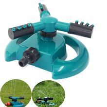 цена на Garden Sprinklers Automatic watering Grass Lawn 360 Degree Circle Rotating Water Sprinkler 3 Nozzles Three Arm Garden Pipe Hose