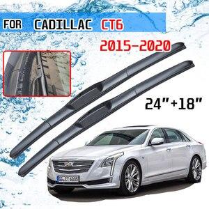 Image 1 - Cadillac için CT6 2015 2016 2017 2018 2019 2020 aksesuarları araba ön cam silecek lastikleri fırçalar kesici U tipi J kanca