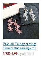 Модные милые серьги в Корейском стиле для молодых девушек студентов
