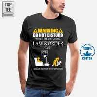 Men Funny T Shirt Fashion Tshirt Warning Do Not Disturb While I'M Watching Law & Order Svu Women T-Shirt