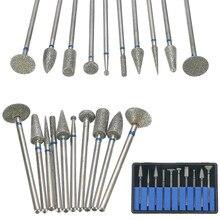 10 teile/satz Dental Gesinterte Diamant Punkt Polierer 2,35mm Schaft Dreh Bur Drill Grinder Schleif Bits Set Schmuck Labor Ausrüstung
