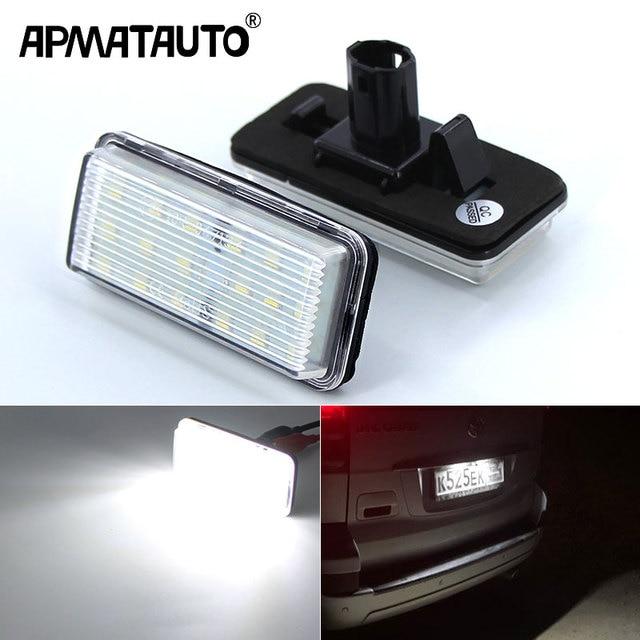 2Pcs No Error Canbus Car LED Number License Plate Light for Toyota Land Cruiser 100 200 Prado 120 Reiz 4D Mark X Accessories