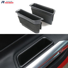 A Pair Abs Car Door Storage Box Car Armrest Plate for Ford Mustang 2015 2016 2017 2018 2019 6th Generation
