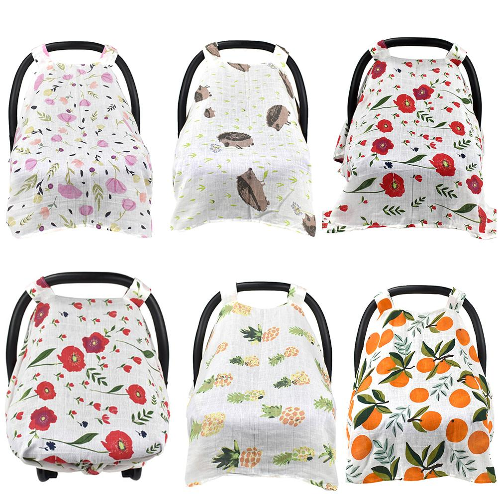 HOT Baby Stroller Pram Car Seat Cover Breathable Muslin Sun Shade Canopy Blanket