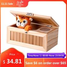 Ahşap elektronik yararsız kutu sevimli kaplan için komik oyuncak hediye çocuk ve çocuklar interaktif oyuncaklar stres azaltma masası dekorasyon