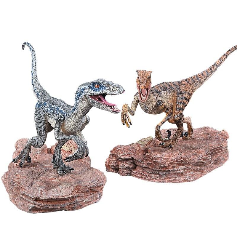 Blue Velociraptor Jurassic 2 Dinosaure Raptor modèle de simulation enfants jouets cadeaux