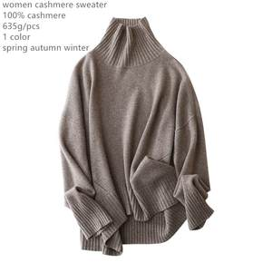 Naizaiga Bat-Shirt Clothing Sweater Turtleneck Knitted Women's Cashmere Casual Solid
