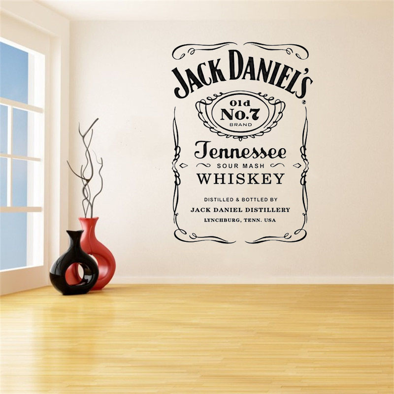 US $5.95 30% OFF|Jack Daniels Wall Decals JD Wall Art Sticker Jennesse  Whiskey Carving Quote Wall Decoration Removable Stickers Home Decor on ...