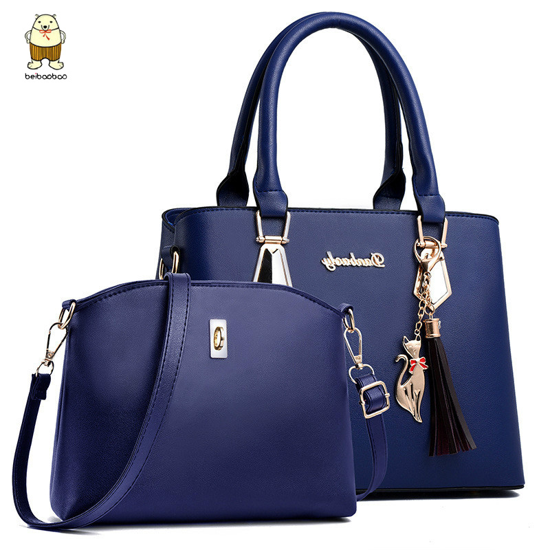 Beibaobao 2pc/set Women Fashion Casual Totes Luxury Handbags Designer Shoulder Bags New Bags For Women 2019 Composite Bag Bolsos