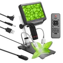 Andonstar Microscope biologique numérique 270x1080P, caméra pour soudage avec écran 3D de 7 pouces et support