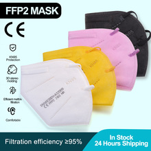 FFP2 KN95 Face Mask ffp2 dust masks Mouth Mask Disposable Anti Dust Masks 5 Ply kn95 Masque Respirator Reusable Protection masks