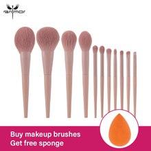 Anmor 11/8Pcs/lot  Makeup Brushes Set Synthetic Hair Professional Make Up Brush For Eyeshadow Foundation Powder Eyeliner Eyelash