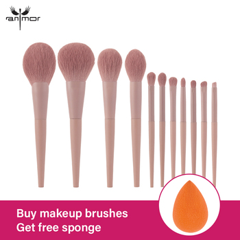 Anmor 11/8Pcs/lot  Makeup Brushes Set Synthetic Hair Professional Make Up Brush For Eyeshadow Foundation Powder Eyeliner Eyelash