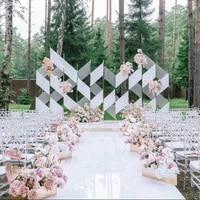 2019 nova quente branco espelho tapete do corredor para atividades de casamento favores e presentes do casamento decorações de festa chuveiro nupcial|Tapete passadeira| |  -