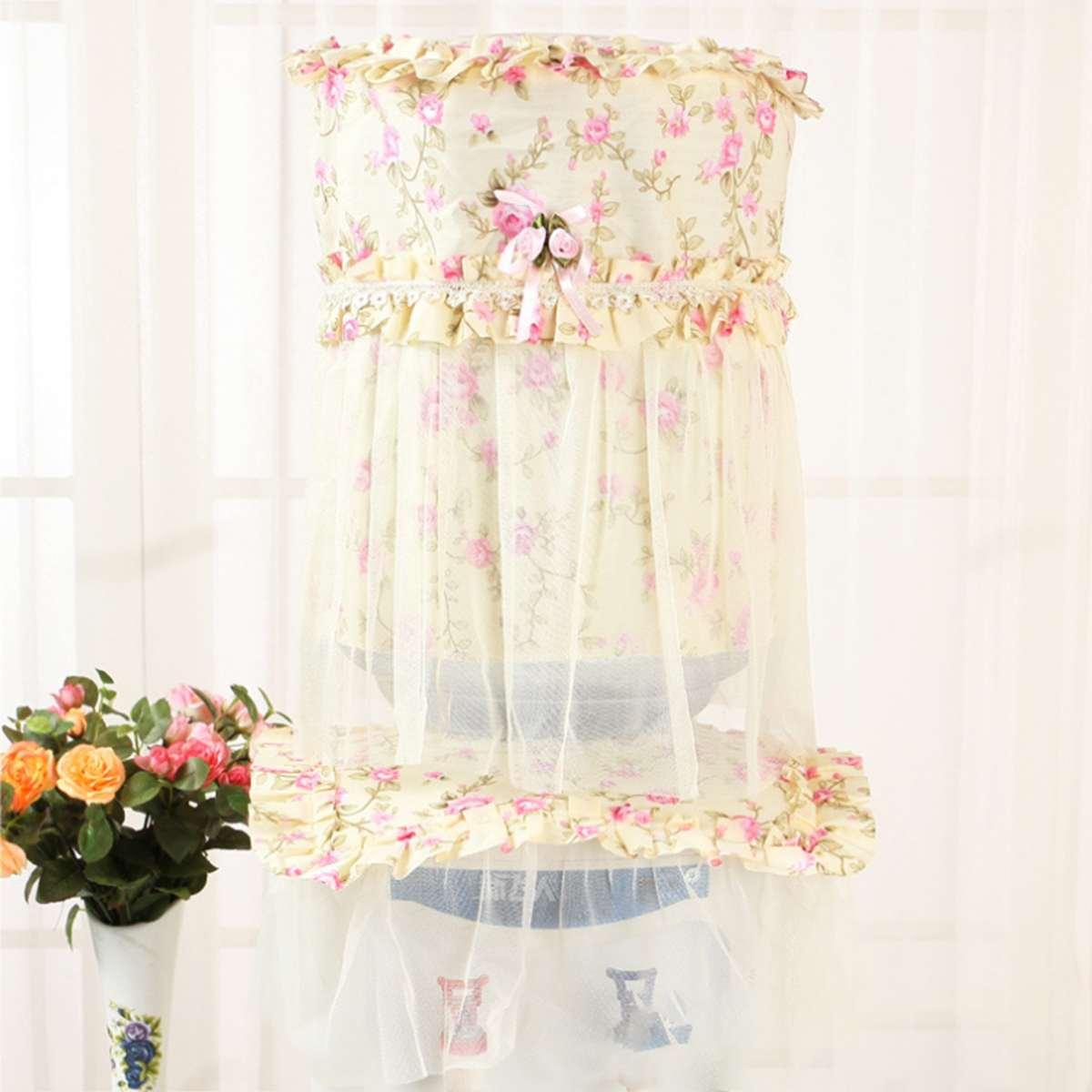 2pcs/set Bucket Purifier Tools Water Dispenser Flower Shape Home Accessories Cotton Dust Cover Lace