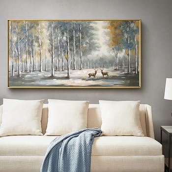 Light Luxury Living Room European-style hand-painted Oil Painting Decorative Wall Paintings Entrance