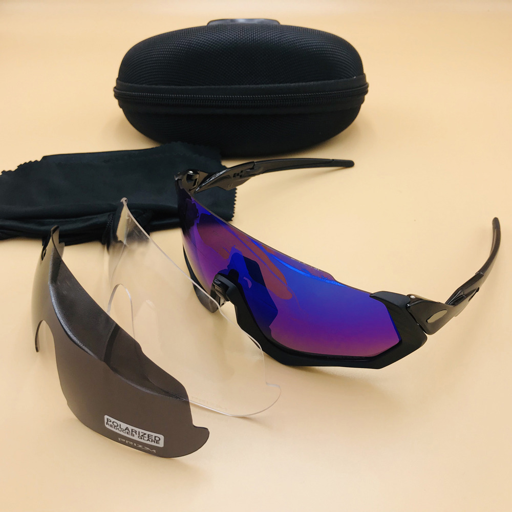 Professional Polarized Cycling Glasses UV400 Photochromic Sport Sunglasses 3lens