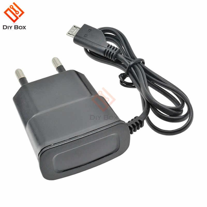 Enchufe de la UE 5V de carga rápida Micro USB cargador adaptador para Samsung HTC LG Sony teléfonos celulares 70cm Cable