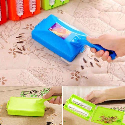 Kreatywny dywan zamiatarka Handheld Sofa łóżko sierść zwierząt gruzu okruchy brud futro Cleaner rolki domowe sprzęty czyszczące 1PC