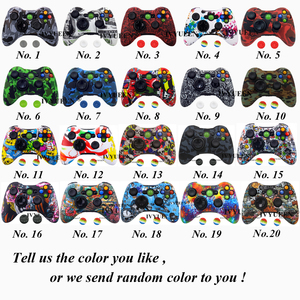 Image 2 - IVYUEEN نقل المياه الطباعة جلد واقي لمايكروسوفت Xbox 360 السلكية/وحدة تحكم لاسلكية غطاء من السيليكون مجموعة أغطية بلاستيك متعددة الألوان والأحجام