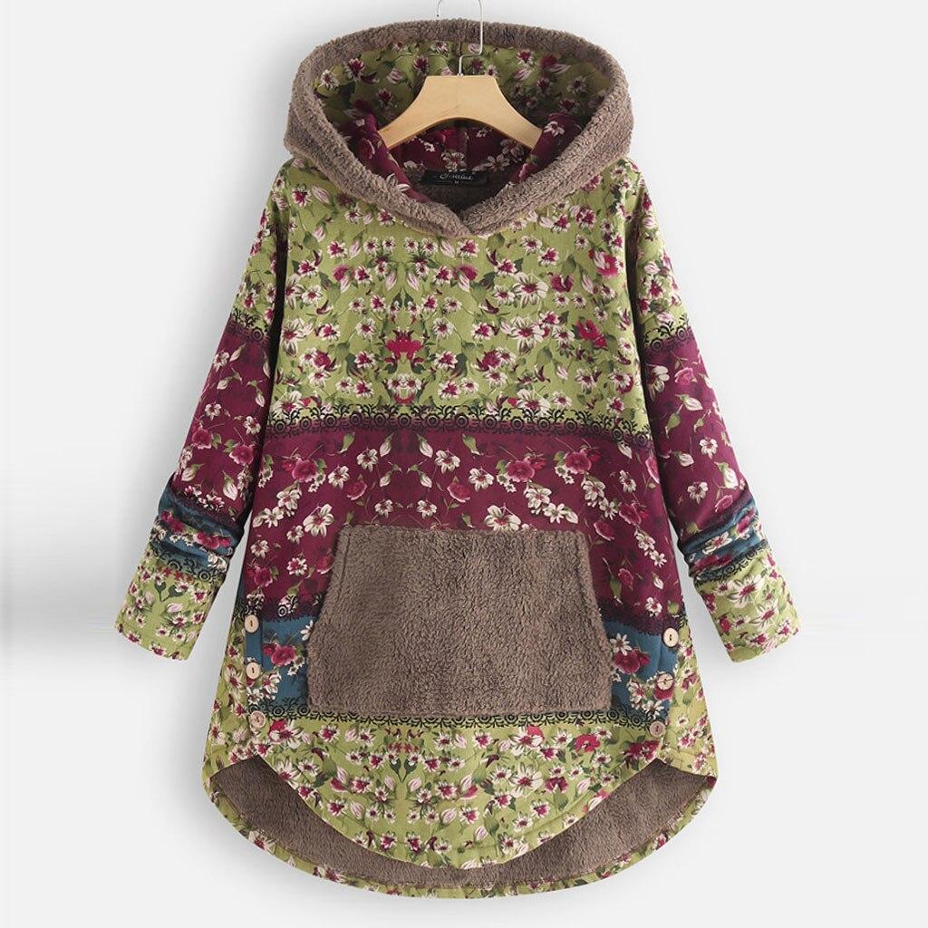 H86321d11a17a4220b21ecd723395cf28X Female Jacket Plush Coat Womens Windbreaker Winter Warm Outwear Retro Print Hooded Pockets Vintage Oversize Coats Plus Size 5XL