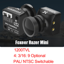 Foxeer Razer Mini 1200TVL PAL/NTSC 4:3 16:9  2.1mm Lens  FPV Camera with OSD 4.5 25V CMOS For RC FPV Racing Drone Models