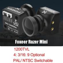 Razer Mini 1200TVL Foxeer PAL/NTSC 4:3 16:9 2.1 milímetros Lens FPV Câmera com OSD 4.5 25V CMOS Para FPV RC Racing Modelos Zangão