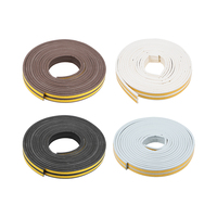 uxcell Uxcell 2 Pcs Foam Tape Adhesive 9mm Width 4mm Thick  Total 16.4/26/32.8 Feet Long Brown/Black/White/Gray