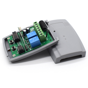 Image 4 - 12 24V 433.92MHz fixed code & rolling code receiver garage door controller 2 channel garage door remote receiver 2x 1527 remotes