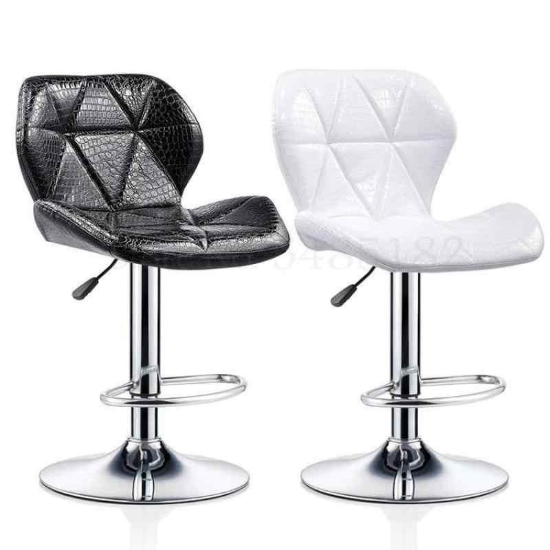 バースツール現代ミニマリストバックリフトバー椅子高スツールバースツールホーム美容スツール回転椅子