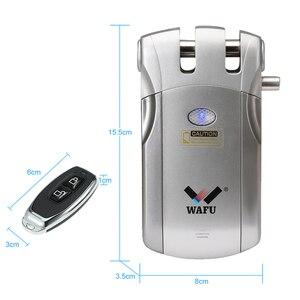 Image 5 - Wafu 019 Draadloze Wifi Smart Lock Afstandsbediening Bt Elektronische Keyless Deur Onzichtbare Slot 433Mhz Telefoon Controle Vingerafdruk Slot