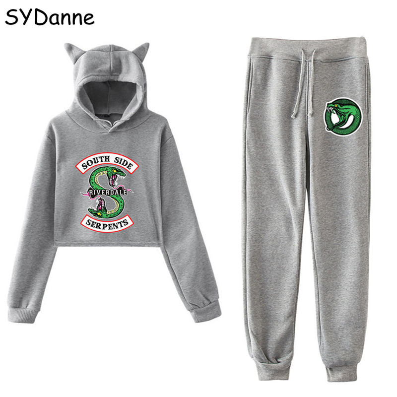 South Side Serpents Riverdale Southside Hoodie Sweatshirts Cosplay Costume Riverdale Jughead T shirt Pants Sport Suit Girl Women image