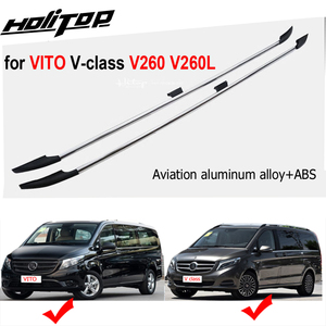 Image 1 - HOT roof rail roof bar roof rack for VITO V class V260 Valente W447 2016 2020,7075 Aviation aluminum alloy,two kinds of length