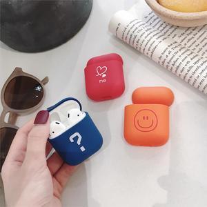 Image 2 - Sevimli kulaklık kapak Apple AirPods için 1 2 kılıfları AirPods2 koruma hava bakla mat cilt buzlu sert pembe aşk kalp aksesuarları