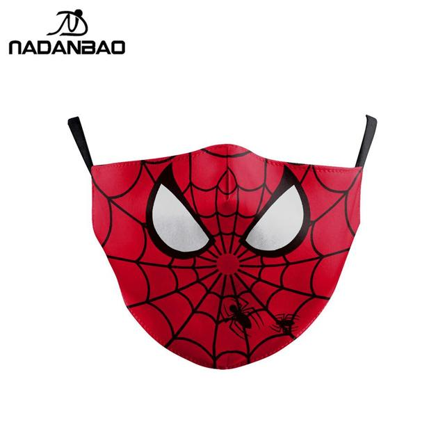Cartoon Cute Superhero Spiderman Superman Captain America Kids Mask Print Face Kids Masks Reusable Children Mask Fabric Masks 1