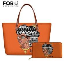 FORUDESIGNS Brand Design Luxury Hand Bags Women 3D Black Art