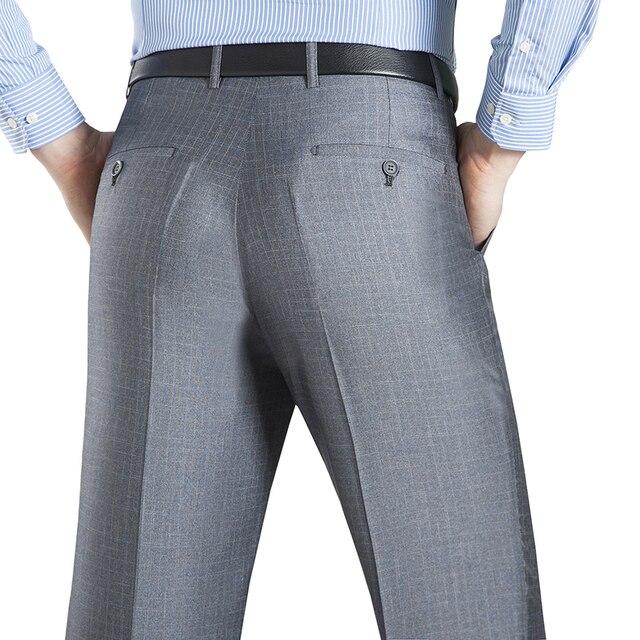 Letni biznes cienki kombinezon spodnie dla mężczyzn rozmiar 29 56 wiosna jesień mężczyzna formalne jednolity jedwab długie spodnie wizytowe workowate spodnie biurowe